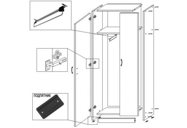 Шкаф платяной ШК 302 ЛДСП - фото 2