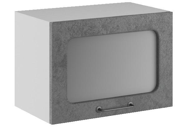 Лофт Навесной шкаф (газовка) 500 мм, с дверцей и стеклом - фото 1