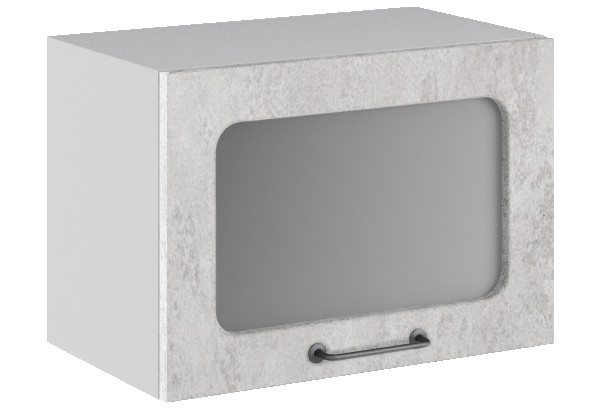 Лофт Навесной шкаф (газовка) 500 мм, с дверцей и стеклом - фото 3