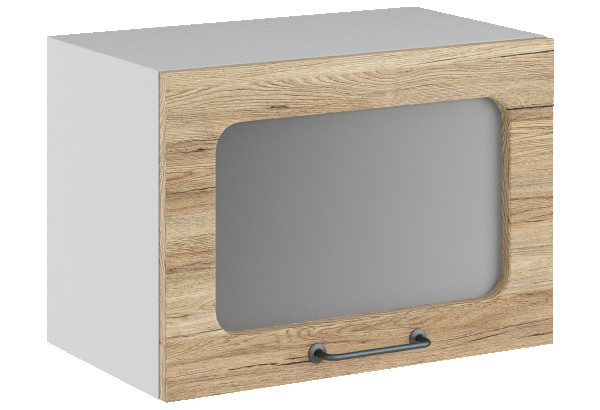 Лофт Навесной шкаф (газовка) 500 мм, с дверцей и стеклом - фото 4