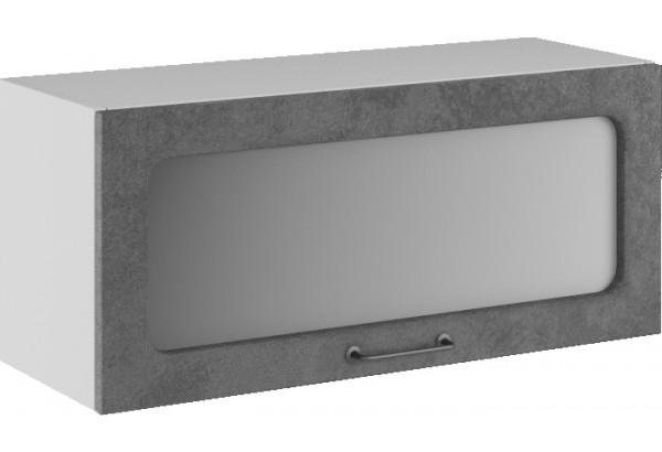 Лофт Навесной шкаф (газовка) 800 мм, с дверцей и стеклом - фото 1