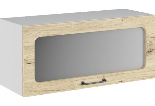 Лофт Навесной шкаф (газовка) 800 мм, с дверцей и стеклом - фото 2