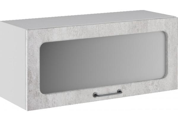 Лофт Навесной шкаф (газовка) 800 мм, с дверцей и стеклом - фото 3