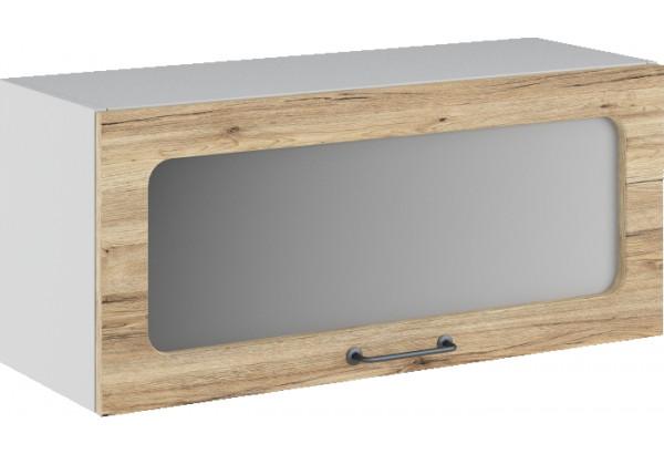 Лофт Навесной шкаф (газовка) 800 мм, с дверцей и стеклом - фото 4