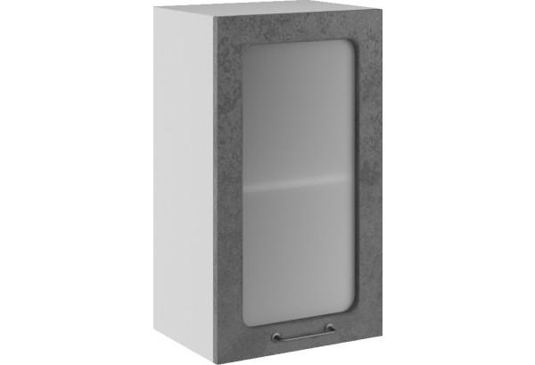 Лофт Навесной шкаф 400 мм, с дверцей и стеклом - фото 1