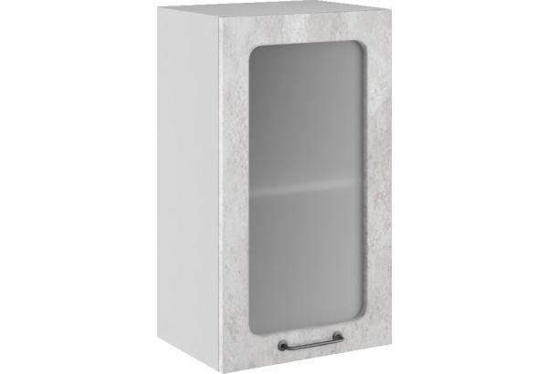Лофт Навесной шкаф 400 мм, с дверцей и стеклом - фото 3