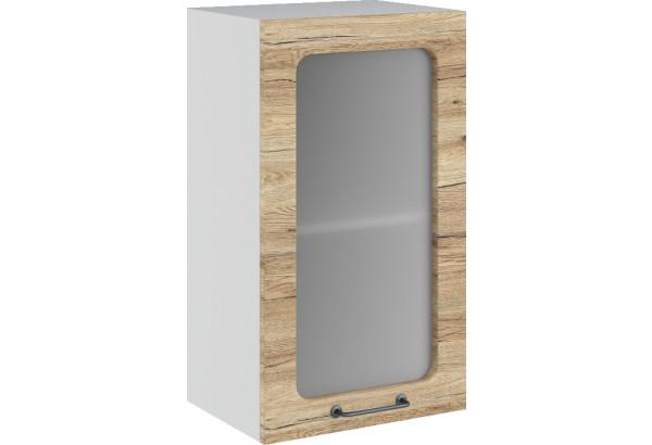 Лофт Навесной шкаф 400 мм, с дверцей и стеклом - фото 4