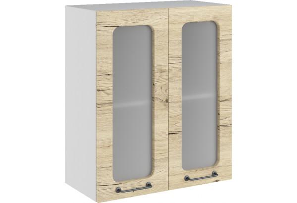 Лофт Навесной шкаф 600 мм, с дверцами и стеклом - фото 2