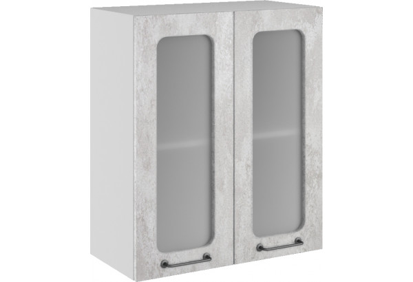 Лофт Навесной шкаф 600 мм, с дверцами и стеклом - фото 3