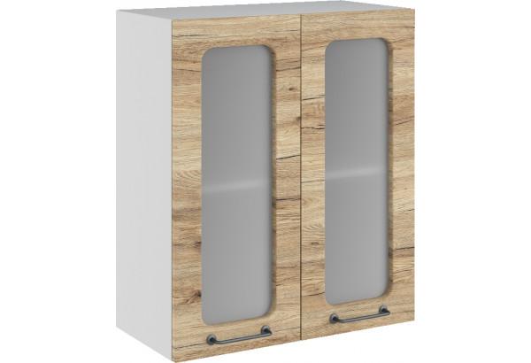 Лофт Навесной шкаф 600 мм, с дверцами и стеклом - фото 4