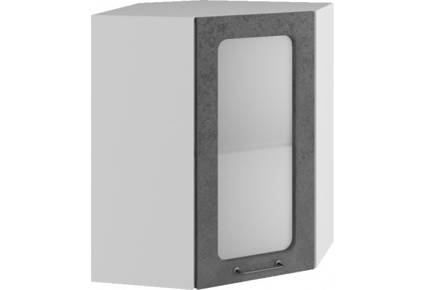 Лофт Навесной шкаф Угловой 550 мм с дверцей и стеклом - фото 1