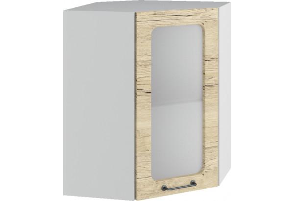 Лофт Навесной шкаф Угловой 550 мм с дверцей и стеклом - фото 2
