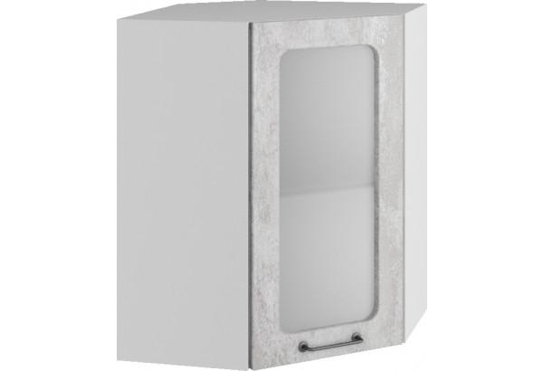 Лофт Навесной шкаф Угловой 550 мм с дверцей и стеклом - фото 3