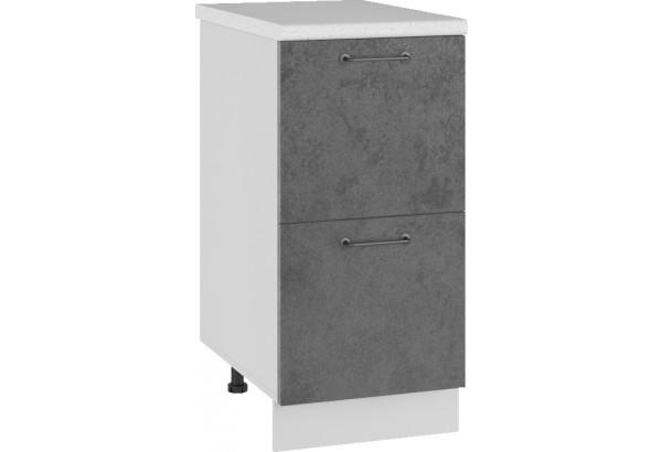 Лофт Напольный шкаф 400 мм, с ящиками - фото 1