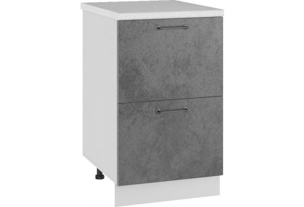 Лофт Напольный шкаф 500 мм, с ящиками - фото 1