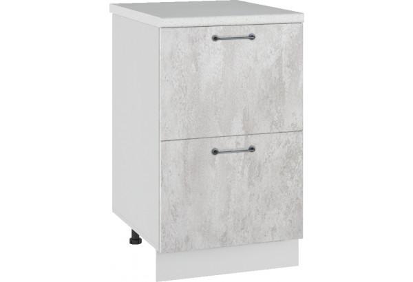 Лофт Напольный шкаф 500 мм, с ящиками - фото 3