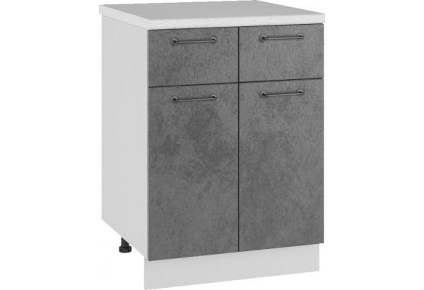 Лофт Напольный шкаф 600 мм, с дверцами и ящиками - фото 1