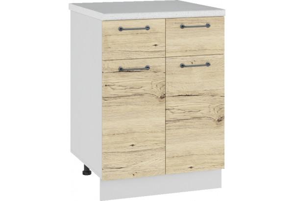 Лофт Напольный шкаф 600 мм, с дверцами и ящиками - фото 2