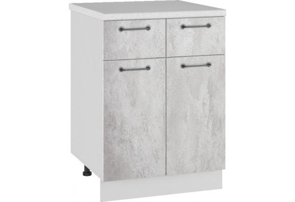 Лофт Напольный шкаф 600 мм, с дверцами и ящиками - фото 3