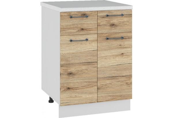 Лофт Напольный шкаф 600 мм, с дверцами и ящиками - фото 4