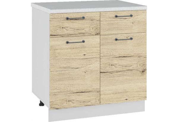 Лофт Напольный шкаф 800 мм, с дверцами и ящиками - фото 2