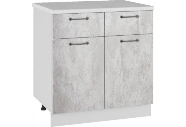 Лофт Напольный шкаф 800 мм, с дверцами и ящиками - фото 3