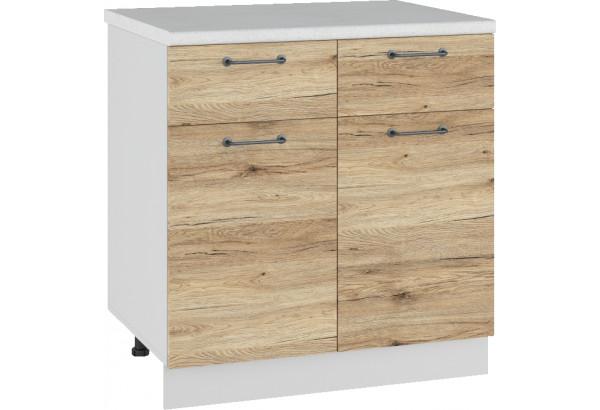 Лофт Напольный шкаф 800 мм, с дверцами и ящиками - фото 4