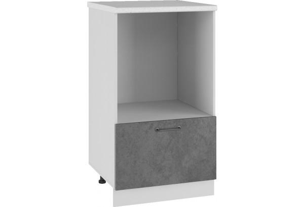 Лофт Напольный шкаф с нишей под микроволновку 600 мм - фото 1