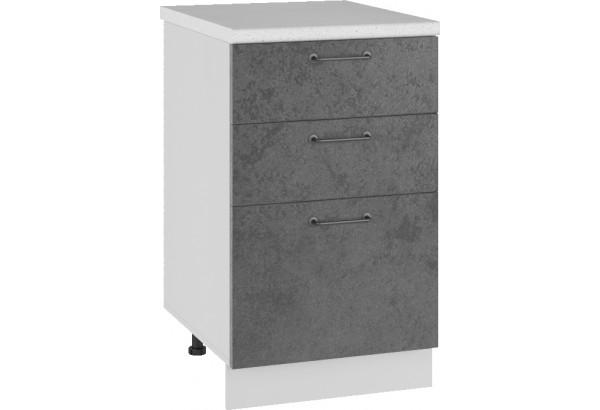 Лофт Напольный шкаф 500 мм, с тремя ящиками - фото 1