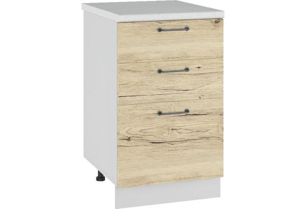 Лофт Напольный шкаф 500 мм, с тремя ящиками - фото 2