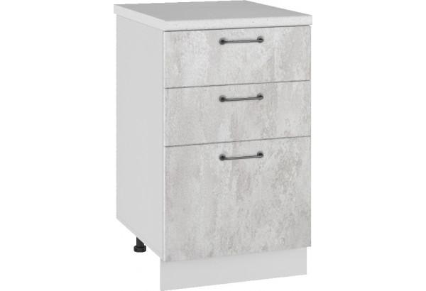 Лофт Напольный шкаф 500 мм, с тремя ящиками - фото 3